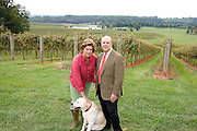 Patricia Kluge with her husband Moses in Albemarle, VA.  Credit Image: © Andrew Shurtleff