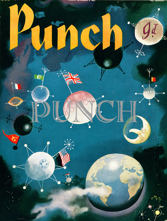 (Punch cover with sputnik satellites on it)