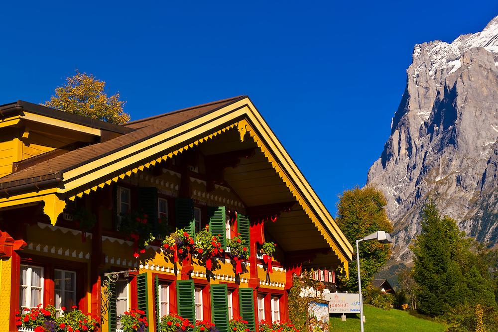 Grindelwald (with Wetterhorn behind), Canton Bern, Switzerland