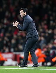 Arsenal manager Mikel Arteta gets animated - Mandatory by-line: Arron Gent/JMP - 27/02/2020 - FOOTBALL - Emirates Stadium - London, England - Arsenal v Olympiacos - UEFA Europa League Round of 32 second leg