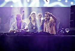 July 27, 2018 - July 27, 2018 (Marbella, Malaga) the millionaire Gianluca Vacchi plays his music at the Starlite disco in Marbella with the owner Sandra Garcia San Juan, celebrating the end of the ''Love and Dance World Tour'' tour. by the Puerto Rican artist Luis Fonsi with his wife Agueda López (Credit Image: © Lorenzo Carnero via ZUMA Wire)