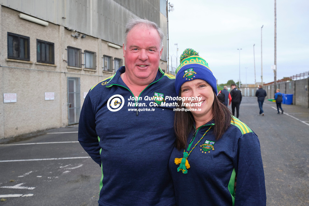 03/10/2020, IFC Final at Pairc Tailteann, Navan<br /> Trim v Ballinabrackey<br /> Spectators pictured at the game, Chris & Theresa Donoghue (Ballinabrackey)<br /> Photo: David Mullen / www.quirke.ie ©John Quirke Photography, Unit 17, Blackcastle Shopping Cte. Navan. Co. Meath. 046-9079044 / 087-2579454.<br /> FUJIFILM X-T3<br /> ISO: 400; Shutter: 1/250; Aperture: 5.6;