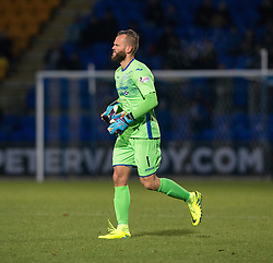 St Johnstone's keeper Zander Clark goes of injured and is replaced by keeper Alan Mannus. St Johnstone 2 v 4 Ross County. SPFL Ladbrokes Premiership game played 19/11/2016 at St Johnstone's home ground, McDiarmid Park.