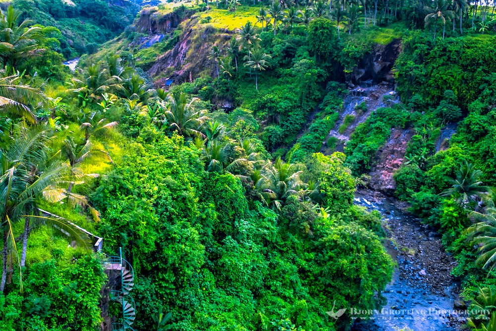 Bali, Gianyar, Tegenungan. There is some beautiful scenery around Tegenungan, this is south of the waterfall.