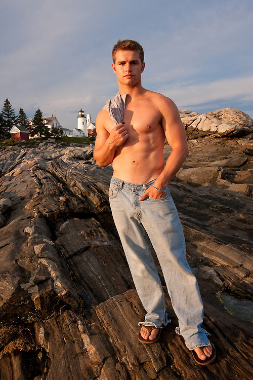 Athlete on Pemaquid Point, Maine