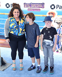 July 1, 2018 - Los Angeles, California, USA - 6/30/18.Marissa Jaret Winokur with her son Zev Isaac Miller and  guest at the premiere of ''Hotel Transylvania 3: Summer Vacation'' held at the Westwood Village Theatre in Los Angeles, CA. (Credit Image: © Starmax/Newscom via ZUMA Press)
