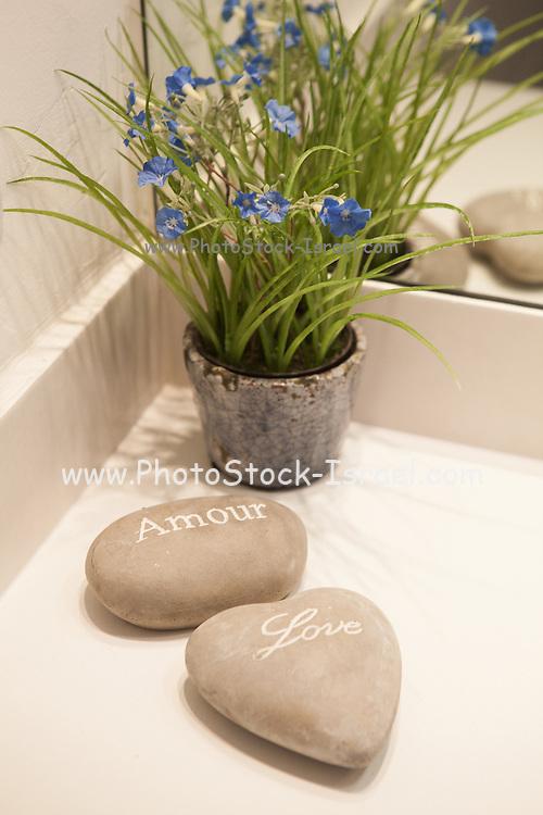 Love rocks romantic Pebbles Stones in spa