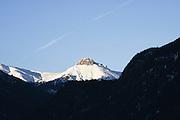 Italy, Italian Alps, The Dolomites snow covered mountain peak