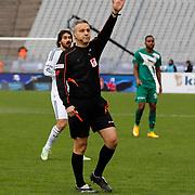 Referee's Mustafa Kamil Abitoglu during their Turkish superleague soccer match Besiktas between Bursaspor at Ataturk Olimpiyat Stadium in Istanbul Turkey on Sunday 15 February 2015. Photo by Aykut AKICI/TURKPIX