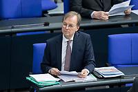 13 FEB 2020, BERLIN/GERMANY:<br /> Thomas Rachel, CDU, Parlamentarischer Staatssekretaer Bundesministerium fuer Bildung und Forschung, Sitzung des Deutsche Bundestages, Plenum, Reichstagsgebaeude<br /> IMAGE: 20200213-01-001