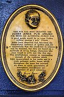 République d'Irlande, Dublin, quartier de Temple Bar, le pub Mercantile, frequenté par James Joyce // Republic of Ireland; Dublin, the touristic Temple Bar area, the Mercantile
