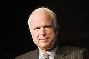 "02 MARCH 2007 -- PHOENIX, AZ: US Senator (and Republican Presidential nominee) John McCain (R-AZ) hosted a fundraiser called an ""Exchange of Ideas"" in the convention center in Phoenix, AZ, Friday, March 2, 2007. About 500 people attended the event.   PHOTO BY JACK KURTZ"