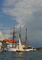 The harbour front in Marstrand. Photo: Chris Davies/WMRT