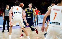 Luka Doncic of Slovenia during basketball match between National Teams of Slovenia and Spain at Day 15 in Semifinal of the FIBA EuroBasket 2017 at Sinan Erdem Dome in Istanbul, Turkey on September 14, 2017. Photo by Vid Ponikvar / Sportida