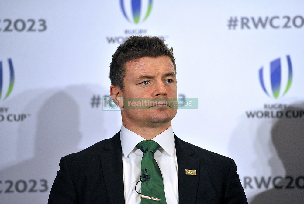 Former Ireland captain Brian O'Driscoll, during the 2023 Rugby World Cup host candidates presentations at the Royal Garden Hotel in London, as Ireland bid to host the event against France and South Africa.