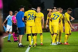 Players of NK Domzale during Football match between NK Domzale and Malmo FF in Second Qualifying match of UEFA Europa League 2019/2020, on July 25th, 2019 in Sports park Domzale, Domzale, Slovenia. Photo by Grega Valancic / Sportida