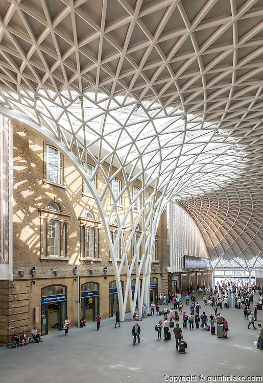 King's Cross Station Western Concourse.  Architect: John McAslan + Partners. Engineer: Arup, Built 2012