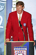 28 August 2006: 2006 Hall of Fame inductee Alexi Lalas. The National Soccer Hall of Fame Induction Ceremony was held at the National Soccer Hall of Fame in Oneonta, New York.