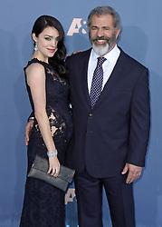 Rosalind Ross, Mel Gibson, The 22nd Annual Critics Choice Awards at Barker Hangar (Santa Monica, CA.)
