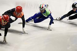 February 8, 2019 - Torino, Italia - Foto LaPresse/Nicolò Campo .8/02/2019 Torino (Italia) .Sport.ISU World Cup Short Track Torino - 1000 meter Men Preliminaries.Nella foto: Mattia Antonioli..Photo LaPresse/Nicolò Campo .February 8, 2019 Turin (Italy) .Sport.ISU World Cup Short Track Turin - 1000 meter Men Preliminaries.In the picture: Mattia Antonioli (Credit Image: © Nicolò Campo/Lapresse via ZUMA Press)
