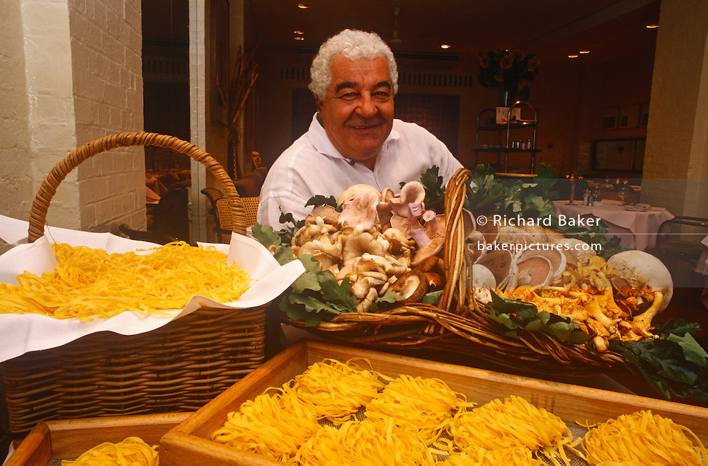 A portrait of Italian chef Antonio Carluccio on around June 1996 in London, England. Antonio Carluccio, OBE OMRI (born 19 April 1937) is an Italian chef, restaurateur and food expert, based in London. He is known as the godfather of Italian gastronomy, with a career stretching back more than 50 years.