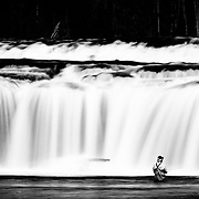 Scott Soden fly fishes the Falls River in Yellowstone National Park in late afternoon.