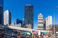 NEW YORK CITY- MARCH 24, 2018 : Flea Market in Midtown  Manhattan
