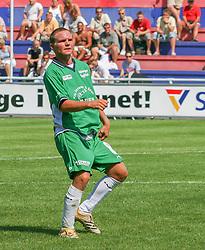 FODBOLD: Sebastian Hviid (Helsingør) under kampen i Kvalifikationsrækken, pulje 1, mellem Elite 3000 Helsingør og Nivå-Kokkedal FK den 6. august 2006 på Helsingør Stadion. Foto: Claus Birch