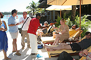 Blake Morrison, Tim Lott, Tilda Swinton and Matt Thorne,  Preparing for the Le Prince Maurice Prize. Mauritius. 26 May 2006. ONE TIME USE ONLY - DO NOT ARCHIVE  © Copyright Photograph by Dafydd Jones 66 Stockwell Park Rd. London SW9 0DA Tel 020 7733 0108 www.dafjones.com