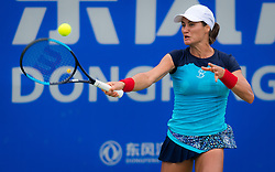 September 22, 2018 - Monica Niculescu of Romania in action during the second qualification round at the 2018 Dongfeng Motor Wuhan Open WTA Premier 5 tennis tournament (Credit Image: © AFP7 via ZUMA Wire)