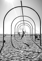 Traveling Rings, Santa Monica Beach, Los Angeles