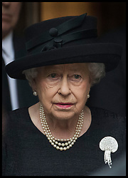 June 27, 2017 - London, London, United Kingdom - Image licensed to i-Images Picture Agency. 27/06/2017. London, United Kingdom. The Queen leaving  the funeral of Countess Mountbatten of Burma at  St.Paul's church in Knightsbridge, London. Picture by Stephen Lock / i-Images (Credit Image: © Stephen Lock/i-Images via ZUMA Press)
