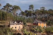 Houses in the hills near to the capital city Antananarivo, Madagascar