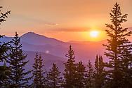 Sunset on top of Aspen Mountain in Aspen, Colorado.
