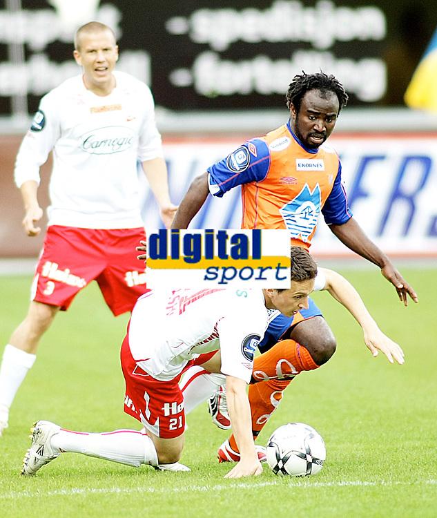 Fotball , <br /> Tippeligaen Eliteserien , <br /> 16.05.08 , <br /> Fredrikstad stadion , <br /> Fredrikstad FFK - Aalesund , <br /> Ardian Gashi , <br /> Razak Pimpong , <br /> patrik Gerrbrand , <br /> Foto: Thomas Andersen / Digitalsport