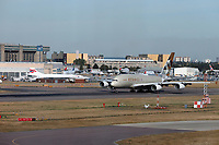 British Airways Concorde and ETIHAD Airbus A380, London Heathrow Airport, London, UK, 14 September 2019, Photo by Richard Goldschmidt