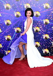 Shirley Ballas arriving at the red carpet launch of Strictly Come Dancing 2019, held at BBC TV Centre in London, UK.