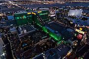 Aerial view of MGM Hotel the Strip, Las Vegas, Nevada, USA
