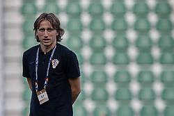 September 11, 2018 - Alicante, Alicante, Spain - Luka Modric of Croatia looks on prior to the UEFA Nations League A group four match between Spain and Croatia at Martinez Valero  on September 11, 2018 in Elche, Spain  (Credit Image: © David Aliaga/NurPhoto/ZUMA Press)