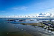 Nederland, Friesland, Gemeente Dongeradeel, 28-02-2016; zicht op de voormalige Lauwerszee, nu Lauwersmeer ter hoogte van Paesens-Moddergat.<br /> <br /> View of the former Lauwers sea, now Lauwersmeer (lake).<br /> <br /> luchtfoto (toeslag op standard tarieven);<br /> aerial photo (additional fee required);<br /> copyright foto/photo Siebe Swart