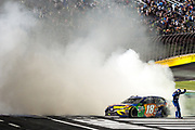 May 20, 2017: NASCAR Monster Energy All Star Race. 18 Kyle Busch, M&M's Caramel Toyota celebrates winning the 2017 All Star race