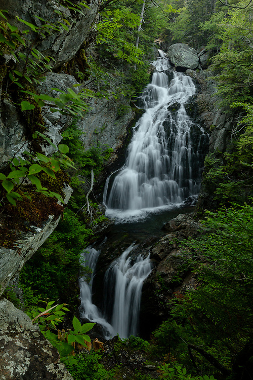 Summertime at Crystal Cascade in the foothills of Pinkham Notch.