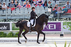 Ann Cathrin Lubbe, (NOR), Porsborggaardens Donatello - Team Competition Grade III Para Dressage - Alltech FEI World Equestrian Games™ 2014 - Normandy, France.<br /> © Hippo Foto Team - Jon Stroud <br /> 25/06/14