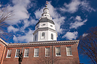 Annapolis, MD photography of the Maryland State House dome  by Jeffrey Sauers of Commerical Photographics