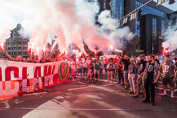 August 1, 2018 - Wroclaw, Poland - People demonstrating on the anniversary of the Warsaw Uprising of 1944 against the German-Nazi occupation of Warsaw during World War II. (Credit Image: © Krzysztof Kaniewski via ZUMA Wire)