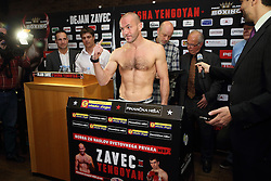 Dejan Zavec during official weighing of boxers Dejan Zavec alias Jan Zaveck of Slovenia and Sasha Yengoyan of Belgium, on April 10, 2015 in Hotel Primus, Ptuj, Slovenia. Photo by Crtomir Goznik / Sportida