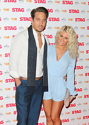 © Licensed to London News Pictures. 13/03/2014, UK. James Lock; Danielle Armstrong, The Stag - Gala Screening, Vue Cinema Leicester Square, London UK, 13 March 2014. Photo credit : Richard Goldschmidt/Piqtured/LNP