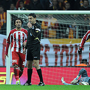 Galatasaray's Engin Baytar (L) during their Turkish Superleague soccer match Galatasaray between Sivasspor at the Turk Telekom Arena at Aslantepe in Istanbul Turkey on Saturday 26 November 2011. Photo by TURKPIX