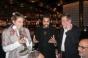 SVETLANA K-LIE; PABLO GANGULI; JOHN HURT, Liberatum Cultural Honour  for John Hurt, CBE in association with artist Svetlana K-Lié.  Spice Market, W London - Leicester Square