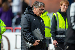 Partick Thistle's manager Ian McCall at half time. Dundee 1 v 3 Partick Thistle, Scottish Championship game player 19/10/2019 at Dundee stadium Dens Park.